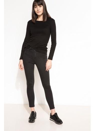 DeFacto Uzun Kollu T-shirt Siyah